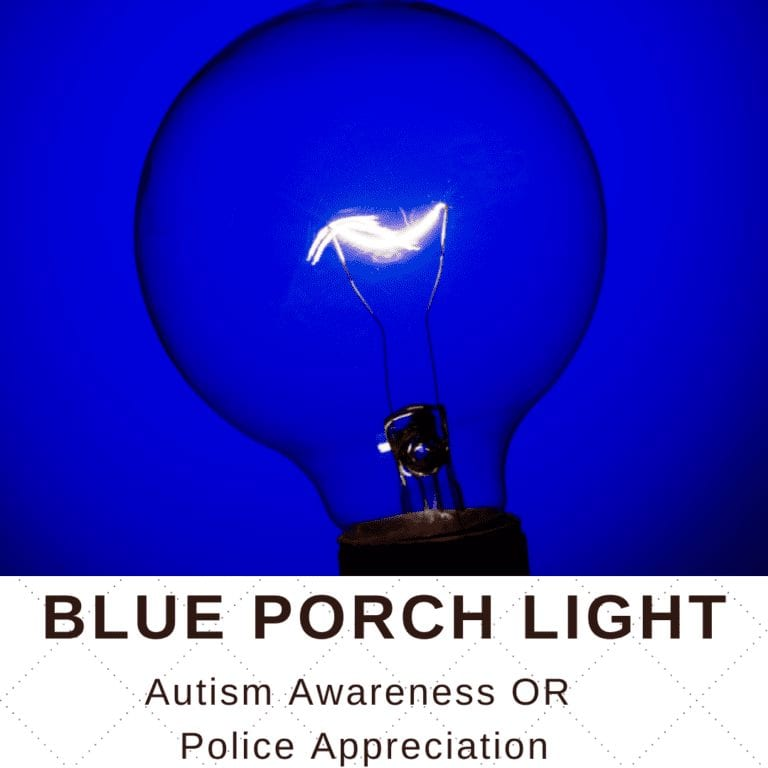 Blue Porch Light