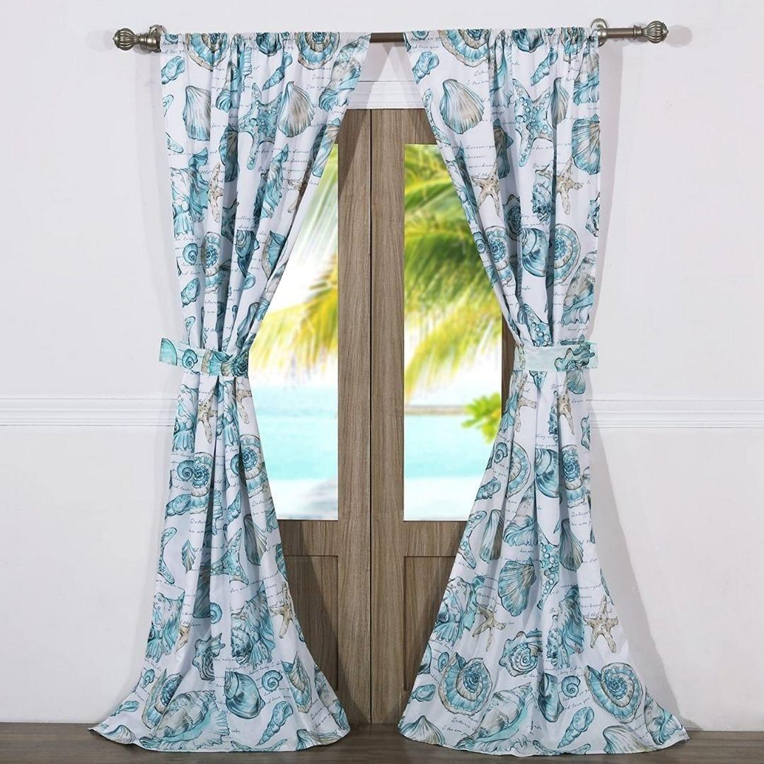 Barefoot Bungalow Cruz Coastal Curtain Panel Set