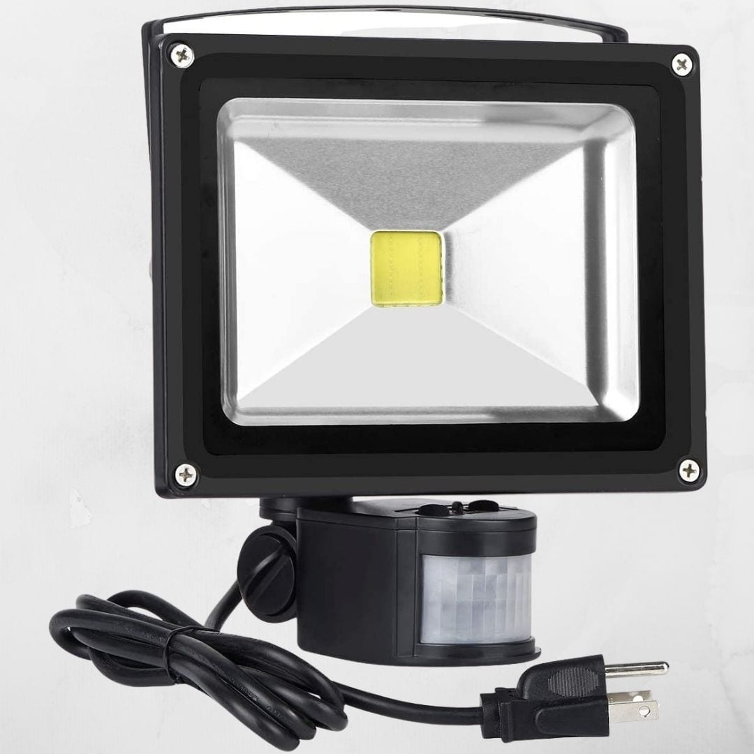 Motion Sensor Floodlight Outdoor, 20W Induction LED Lamp
