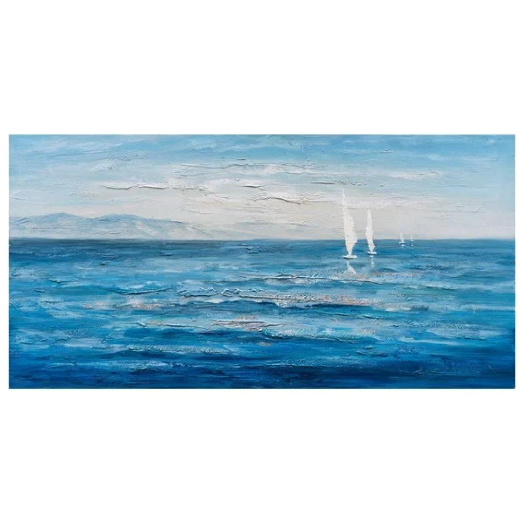 """Ocean's Eleven"" Hand Painted Canvas Art"