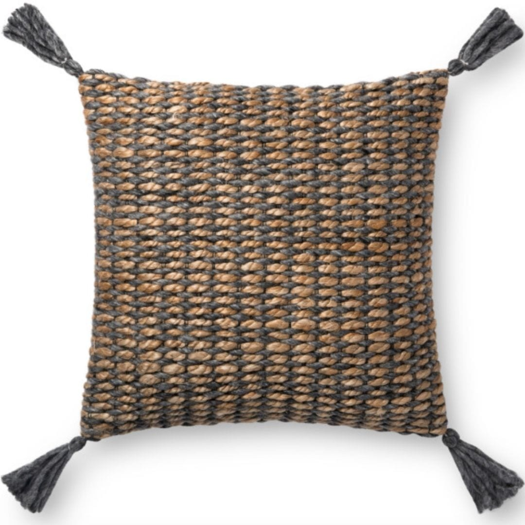 Ellen DeGeneres Crafted by Loloi Natural/Gray Pillow