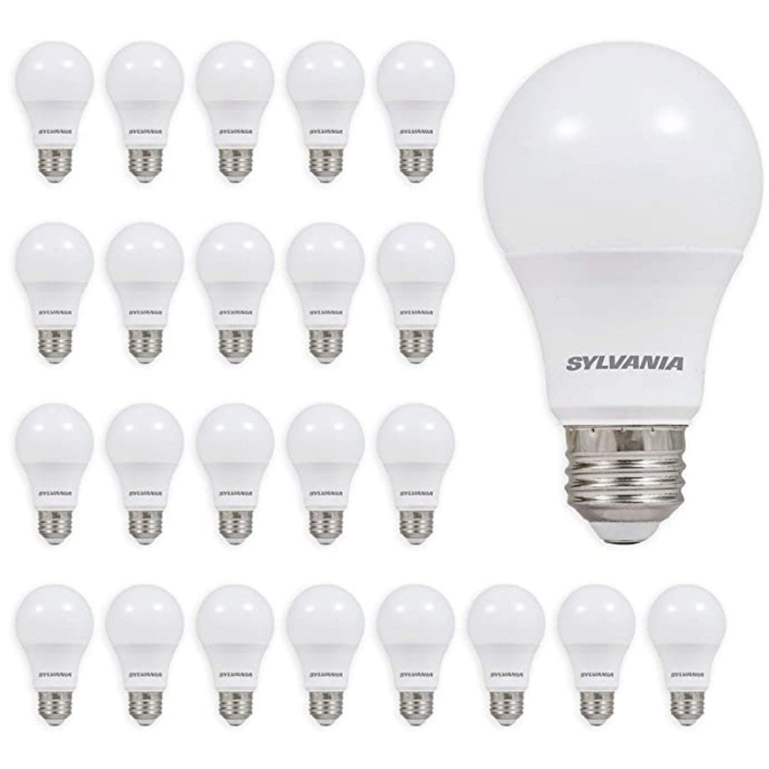 A19 Efficient 8.5W Soft White 2700K 60W Equivalent A29 LED Light Bulb (24 Pack), 10 yr, 24 Count