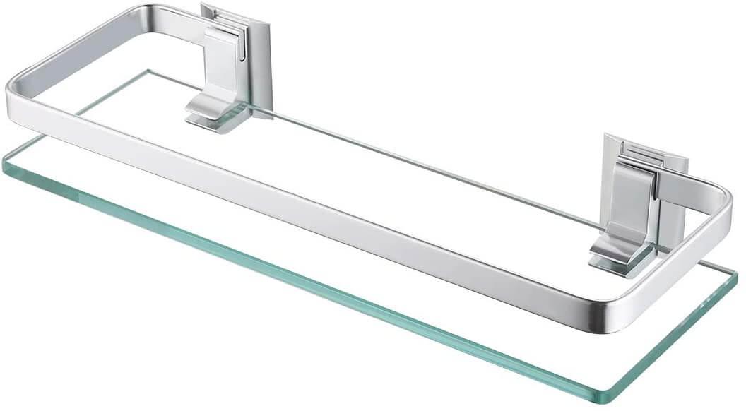 KES Aluminum Bathroom Shelf with Tempered Glass