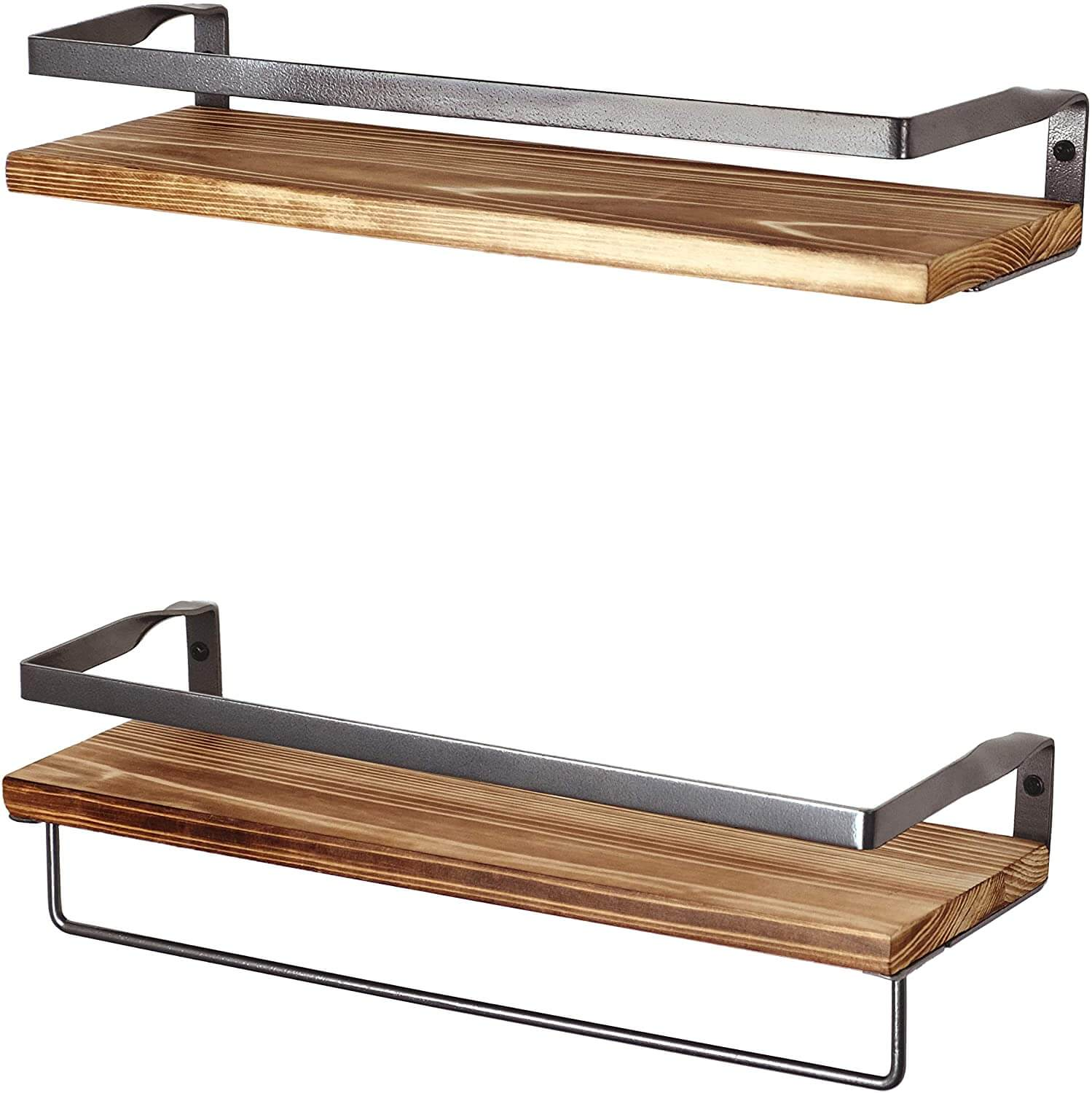 Peter's Goods: Rustic Floating Wall Shelves with Rails